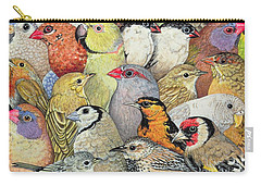 Patchwork Birds Carry-all Pouch by Ditz