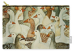 Patchwork Geese Carry-all Pouch
