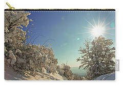 Path Covered With Snow In A Sunny Winter Day Carry-all Pouch by Vlad Baciu