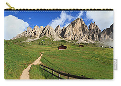 Carry-all Pouch featuring the photograph path in Gardena pass by Antonio Scarpi