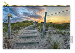 Carry-all Pouch featuring the photograph Path Over The Dunes by Sebastian Musial