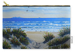 Path Through The Sand Dunes Carry-all Pouch by Pamela  Meredith