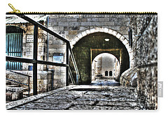 Carry-all Pouch featuring the photograph Pathway Through Old Jerusalem by Doc Braham
