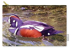 Carry-all Pouch featuring the photograph Patriot Duck by Susan Garren
