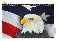 Patriotic American Flag And Eagle Carry-all Pouch by Kenny Francis