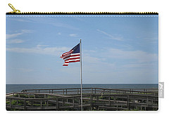 Patriotic Beach View Carry-all Pouch