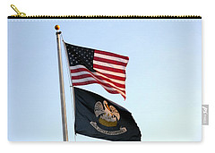 Carry-all Pouch featuring the photograph Patriotic Flags by Joseph Baril