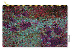 Paw Prints Cracked Purple Carry-all Pouch