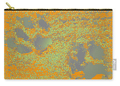 Paw Prints In Orange And Grey Carry-all Pouch