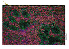 Paw Prints In Red And Green Carry-all Pouch