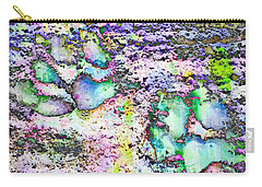 Paw Prints Vibrant Pastel Carry-all Pouch