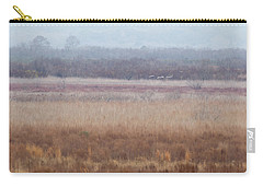 Carry-all Pouch featuring the photograph Paynes Prairie White Birds by Paul Rebmann