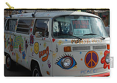 Peace And Love Van Carry-all Pouch by Dany Lison