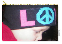 Carry-all Pouch featuring the photograph Peace Baby by Bobbee Rickard