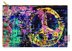 Carry-all Pouch featuring the photograph Peace Graffiti by Suzanne Stout