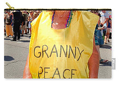 Carry-all Pouch featuring the photograph Peace Granny by Ed Weidman