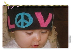 Peace N Love Baby Carry-all Pouch by Bobbee Rickard
