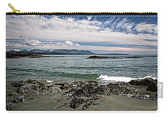 Peaceful Pacific Beach Carry-all Pouch by Richard Farrington