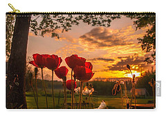 Carry-all Pouch featuring the photograph Peaceful Poppy by Rose-Maries Pictures