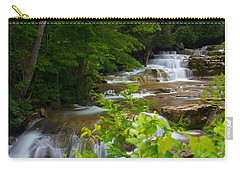 Carry-all Pouch featuring the photograph Peaceful Stockbridge Falls  by Dave Files