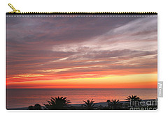 Carry-all Pouch featuring the photograph Peaceful Sunset by Mariarosa Rockefeller
