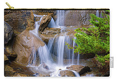 Carry-all Pouch featuring the photograph Peaceful Waterfall by Jordan Blackstone