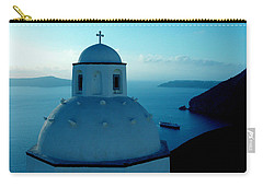 Peacefull Santorini Greek Island  Carry-all Pouch