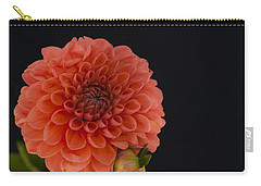 Peach Dahlia Carry-all Pouch