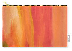 Peach Floral Carry-all Pouch by Lourry Legarde
