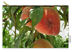 Carry-all Pouch featuring the photograph Peaches On The Tree by Kerri Mortenson