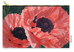 Peachy Poppies Carry-all Pouch