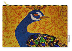 Carry-all Pouch featuring the tapestry - textile Peacock Blue by Apanaki Temitayo M