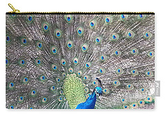 Carry-all Pouch featuring the photograph Peacock Bow by Caryl J Bohn