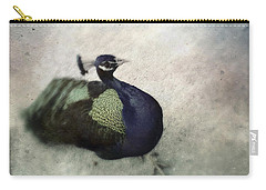 Carry-all Pouch featuring the photograph Peacock by Bradley R Youngberg