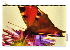 Carry-all Pouch featuring the digital art Peacock Butterfly by Daniel Janda