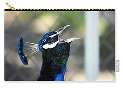 Peacock Calling Carry-all Pouch