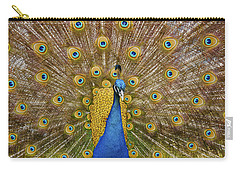 Peacock Courting Carry-all Pouch by Charles Beeler