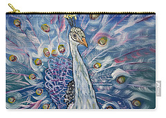 Peacock Dressed In White Carry-all Pouch