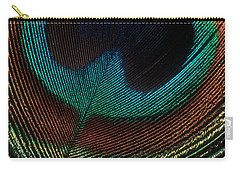 Carry-all Pouch featuring the photograph Peacock Feather by Jerry Fornarotto