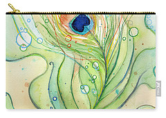 Peacocks Paintings Carry-All Pouches
