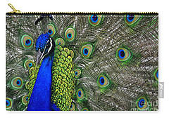 Peacock Head Carry-all Pouch