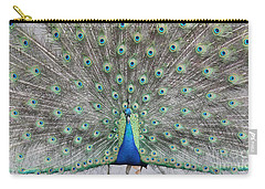 Carry-all Pouch featuring the photograph Peacock by John Telfer