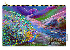 Peacock Magic Carry-all Pouch by Jane Small