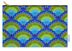 Peacock Scallop Feathers Carry-all Pouch