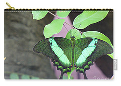 Carry-all Pouch featuring the photograph Peacock Swallowtail by Lingfai Leung