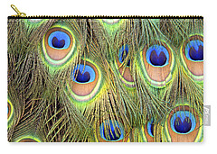 Peacock Tail Carry-all Pouch by Frank Wilson