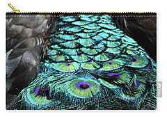 Peacock Trail Carry-all Pouch by Karol Livote