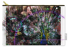 Carry-all Pouch featuring the digital art Peacock With Leftovers  by Nola Lee Kelsey