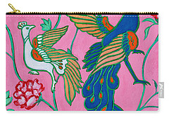 Peacocks Flying Southeast Carry-all Pouch by Xueling Zou