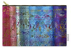 Peacocks On Silk Carry-all Pouch